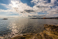 Rocks and coastline at Palombaggia beach in Corsica Stock Photo