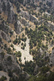 Rocks collapse at Imbros Gorge in Crete. Greece Royalty Free Stock Photos