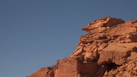 Rocks in a color canyon stock footage