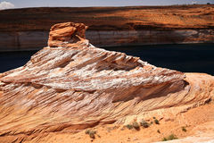 Rocks at Colorado river in Glen Canyon Stock Images