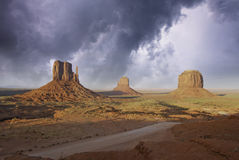 Rocks and Colors of Monument Valley Stock Images