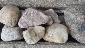 Rocks and concrete stock photo