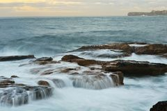 Rocks at Coogee. The Rocks at sunrise at Coogee beach Royalty Free Stock Image