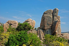 Rocks of Corsica. Rocks in Corsica near Conca on the GR20 stock photography