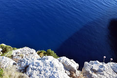 Rocks on the cost on the island. Of Croatia Stock Photography