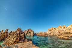 Rocks in Costa Paradiso. Sardinia Stock Photography