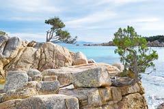 Rocks in Costa Smeralda Stock Images