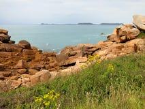 Rocks at Cote de Granite Rose Stock Photography