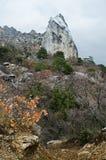 Rocks in Crimea (Ukraine) Royalty Free Stock Photos