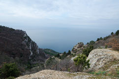 Rocks in Crimea (Ukraine) Royalty Free Stock Image