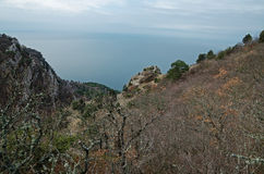 Rocks in Crimea (Ukraine) Stock Photography