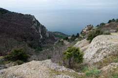 Rocks in Crimea (Ukraine) Royalty Free Stock Images
