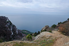 Rocks in Crimea (Ukraine) Royalty Free Stock Photography