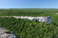 Rocks in Crimean mountains Stock Photo