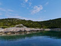 The rocks of the Croatian island Zirje Royalty Free Stock Image