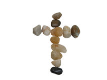 Rocks cross-clipping path Stock Image