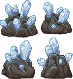 Rocks with crystals. Vector clip art illustration with simple gradients. Each on a separate layer Stock Image
