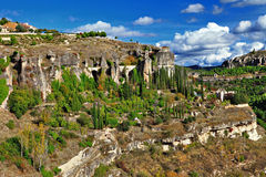 Rocks of Cuenca, Royalty Free Stock Photography