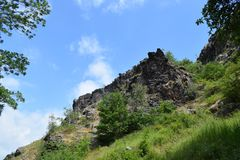 Rocks in the Czech Park Wild Boar stock photos
