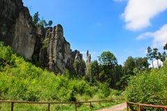 Rocks in Czech republic Royalty Free Stock Photo