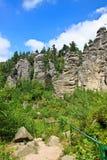Rocks in Czech republic Royalty Free Stock Photos