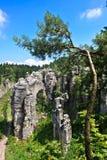 Rocks in Czech republic Stock Images