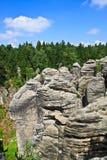 Rocks in Czech republic Stock Photo