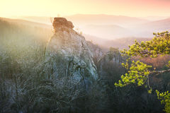 Rocks at dawn Bubnyshche Stock Photography