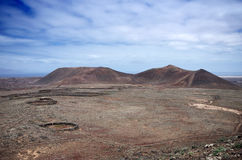 Rocks desert and mountains on fuerteventura island Stock Images