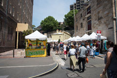 The Rocks District: Markets and Lemonade stock images