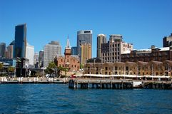 The Rocks district, Sydney, Australia. SYDNEY, AUSTRALIA - OCTOBER 4: The Rocks District, Circular Quay. The Rocks is an urban locality, tourist precinct and royalty free stock images