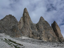 Rocks in the Dolomite. They are rocks in the Dolomites Stock Photography