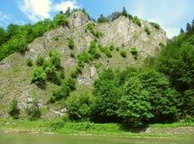 Rocks at Dunajec river Stock Photography