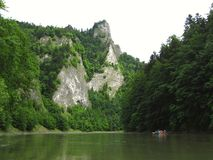 Rocks at Dunajec river Royalty Free Stock Images