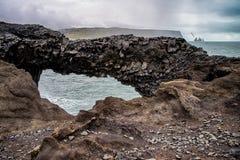Rocks of Dyrholaey Stock Photo