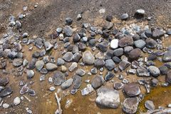 Rocks on edge of the geyser Stock Image