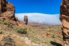 Rocks in El Teide National Park Tenerife Stock Photo