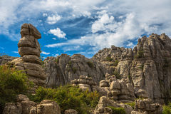 Rocks at El Torcal Stock Photos