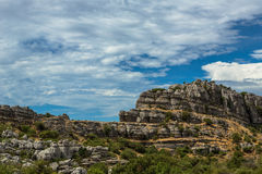 Rocks at El Torcal Royalty Free Stock Image