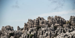 Rocks of El Torcal Royalty Free Stock Images