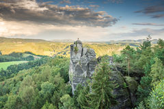 Rocks in the Elbe Sandstone Mountains Royalty Free Stock Photography