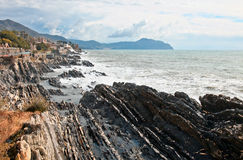 Rocks eroded by the sea Royalty Free Stock Image