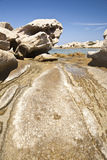 Rocks eroded by water and wind Royalty Free Stock Images