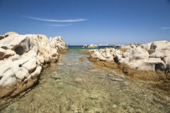 Rocks eroded by water and wind Stock Photography