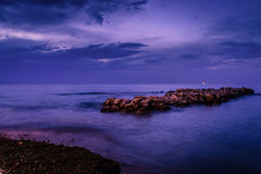 Rocks On The Evening Sea Royalty Free Stock Images