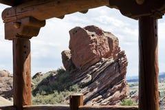 rocks för colorado parkred arkivbild