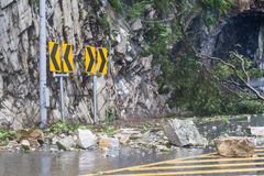 Rocks fallen from typhoon Royalty Free Stock Photos