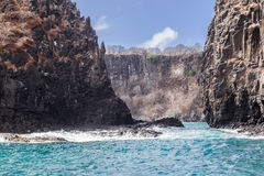 Rocks in Fernando de Noronha Island Royalty Free Stock Image
