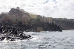 Rocks in Fernando de Noronha Island. The rocks at Fernando de Noronha archipelag, Pernambuco, Brazil Stock Image