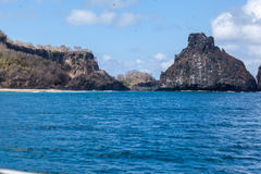 Rocks in Fernando de Noronha Island Stock Images